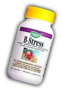 Nature's Way B-stres'sSiberian Eleuthero, Capsules, 60-Count by Nature's Way. Save 54 Off!. $6.59. B-Stress Formula provides antioxidants. B-vitamins involved in cellular energy.. The maintenance and repair of nerve structures. B-Vitamin complex with the vitality of Siberian Ginseng and the synergy of coenzymes. This product provides many essential B Vitamins, which are precursors of coenzymes involved in the conversion of cellular energy, manufacture of hormones and proteins, and rep...