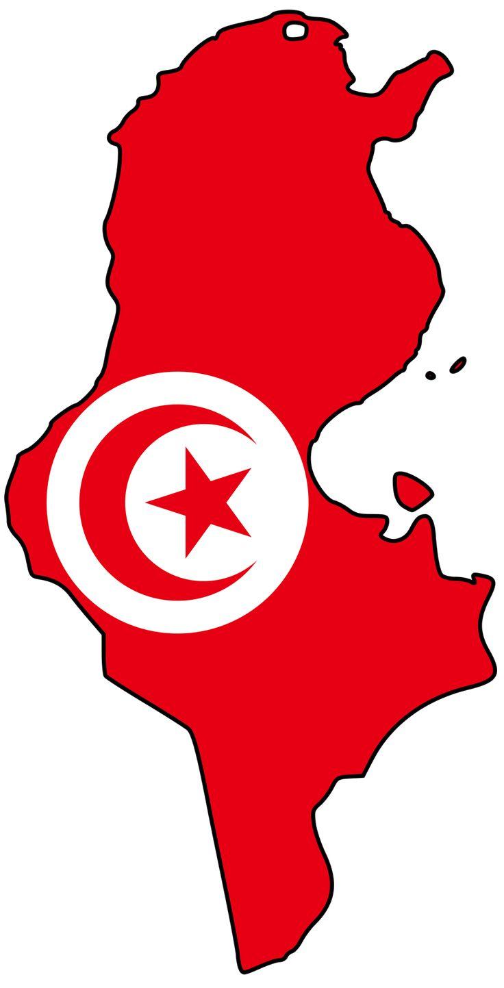 Tunisia Flag Map - Mapsof.net