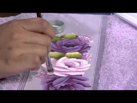 Mulher.com 11/07/2014 - Pintura Rosa Toalha de Rosto por Ana Laura Rodrigues - Parte 2 - YouTube
