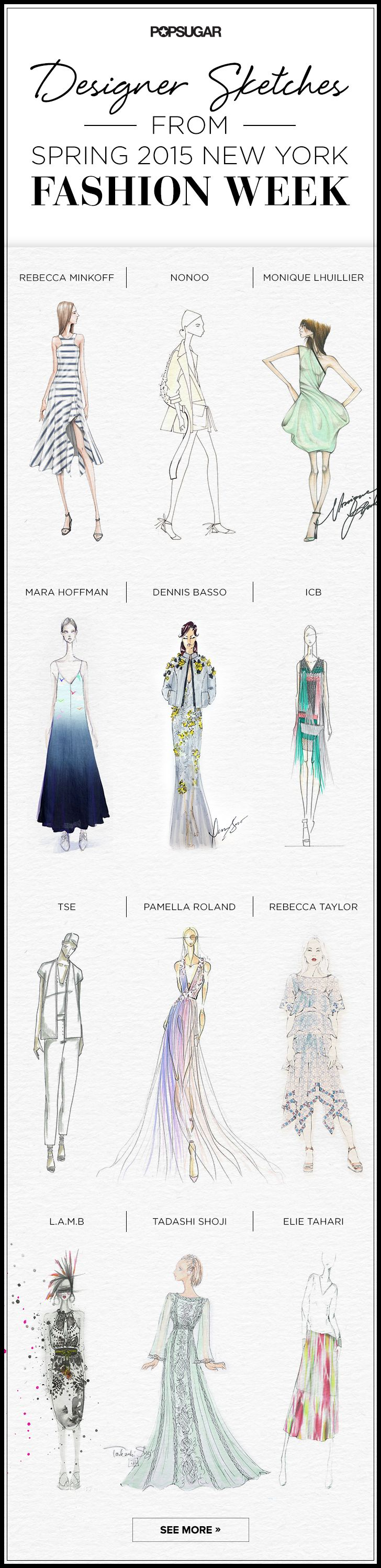 See the sketches that inspired the Spring 2015 shows