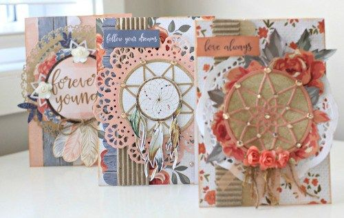 Kaisercraft Boho Dreams Dream Catcher Cards by Alicia McNamara