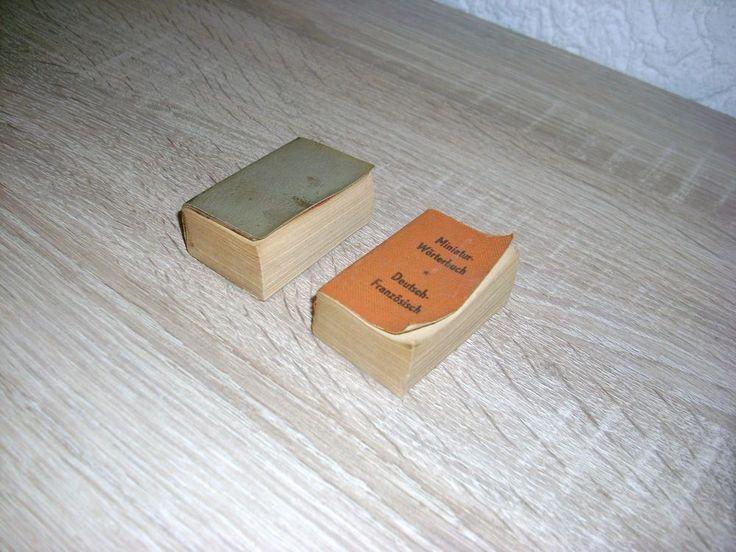 2 St Minnibuch Deutsch – Französisch Miniatur – Wörterbuch DDR