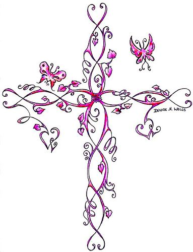 cross tattoos for women | Cross Tattoo Inked! Design by Denise A. Wells | Flickr - Photo Sharing ...