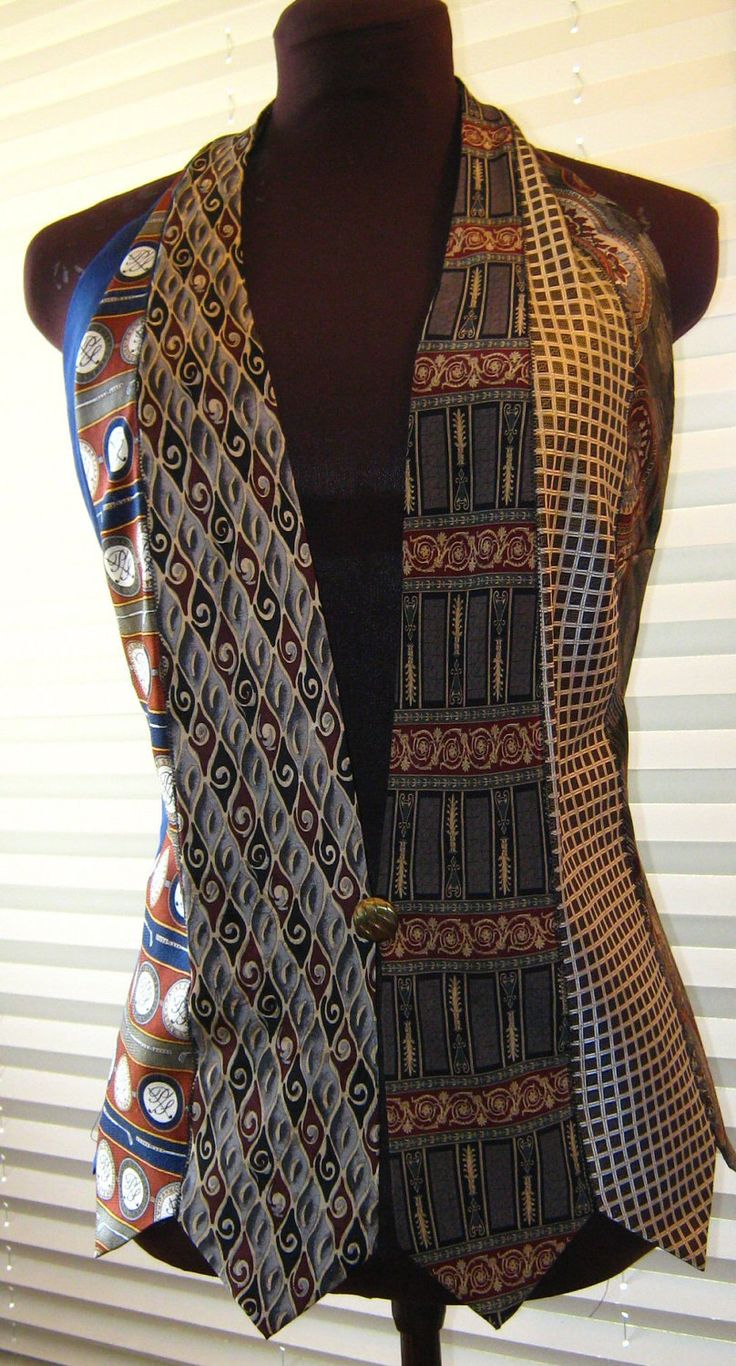 Women's Vest made entirely of Neckties in earth by JBArtistry1015