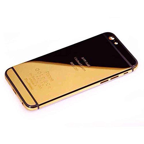 """New for iPhone 6 4.7"""" 24K 24KT 24CT Limited Edition Mirror Shiny Gold/Silver/Rose Gold Alloy Metal Back Cover Housing Battery Door Middle Frame Bezel Spare Parts LOGO&Buttons&Engraved Words, Free Tools, DHL Shipping (Gold/Black Strip) Rinbers http://www.amazon.com/dp/B00OK0XXMS/ref=cm_sw_r_pi_dp_OW5jvb1D22A0N"""