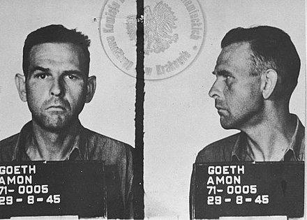 Amon Göth  qui a commandé le camp de concentration de Plazow