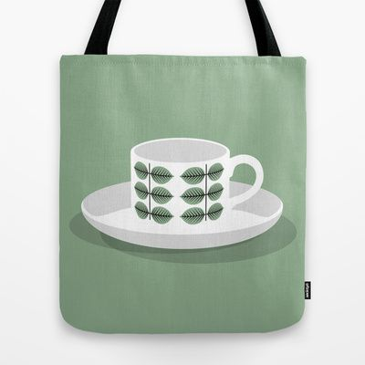 Berså coffee cup Tote Bag by bittersweat - $22.00