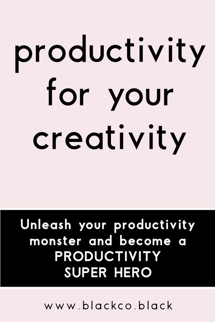 Discover how productivity can boost your creativity. Unleash your productivity monster and become a Productivity Super Hero!
