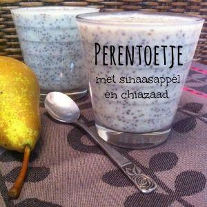 Door chiazaad te combineren met kokosmelk ontstaat er een soort pudding…  ideaal om toetjes mee te maken in alle smaken van de regenboog. Ik maakte  een toetje met peren en sinaasappel en at het vervolgens als ontbijt.  Heerlijk!