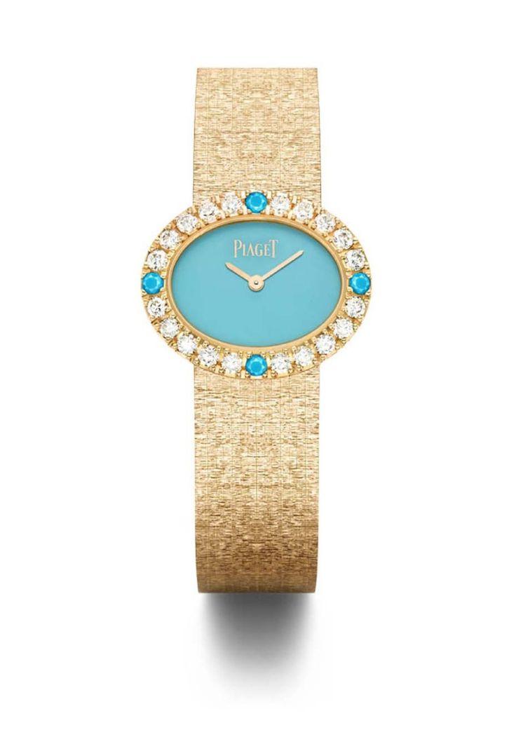 Reloj en oro rosa con turquesas y diamantes de la colección de joyas Extremely Piaget