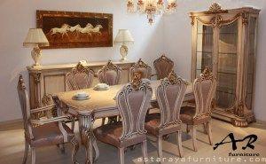 Set Meja Makan Classic Design furniture Terbaru