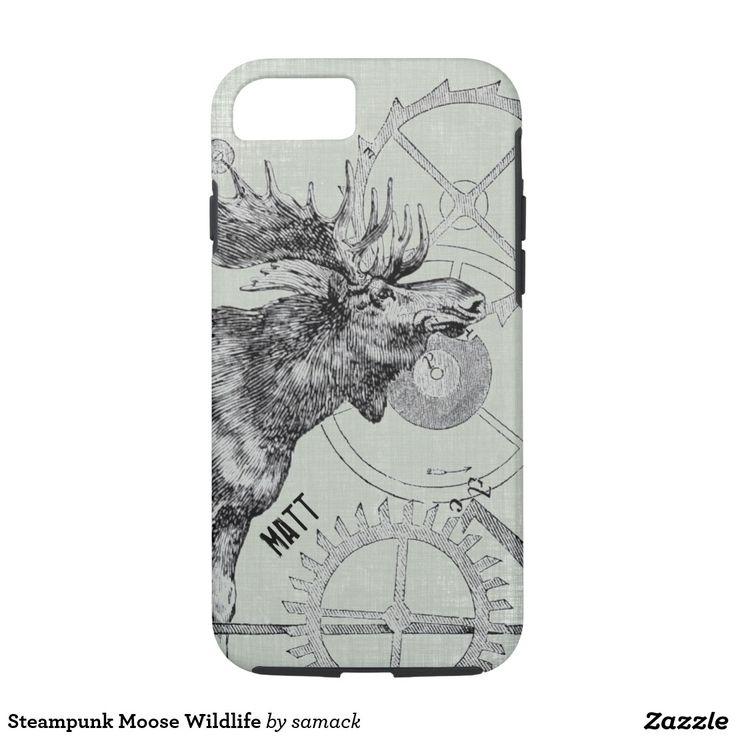 Steampunk Moose Wildlife iPhone 7 Case
