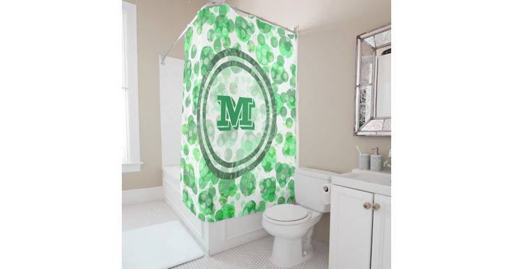 Distressed design are trending  right now. This design has a pattern of green spots with  a distressed effect. In the middle is a monogram which you can customize with a letter of your choice.