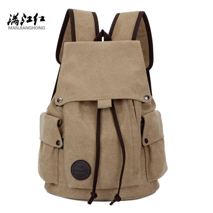 """Manjinghong Brand Korean Style Canvas Bag Backpack Male Backpack for Students Youth Casual Backpack for Laptop 15"""" Bag 1287"""