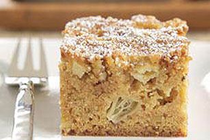 End your feast with an aromatic Cinnamon Apple Snack Cake made with HONEY MAID Graham Crackers.