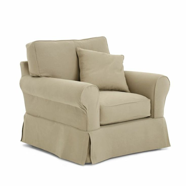 Jcpenney friday twill slipcovered chair jcpenney for Jcpenney living room chairs