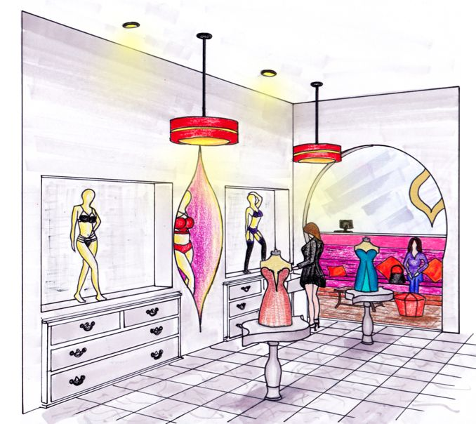 School Project: Retail design. NU: Intimate Apparel for women. Moroccan inspired.