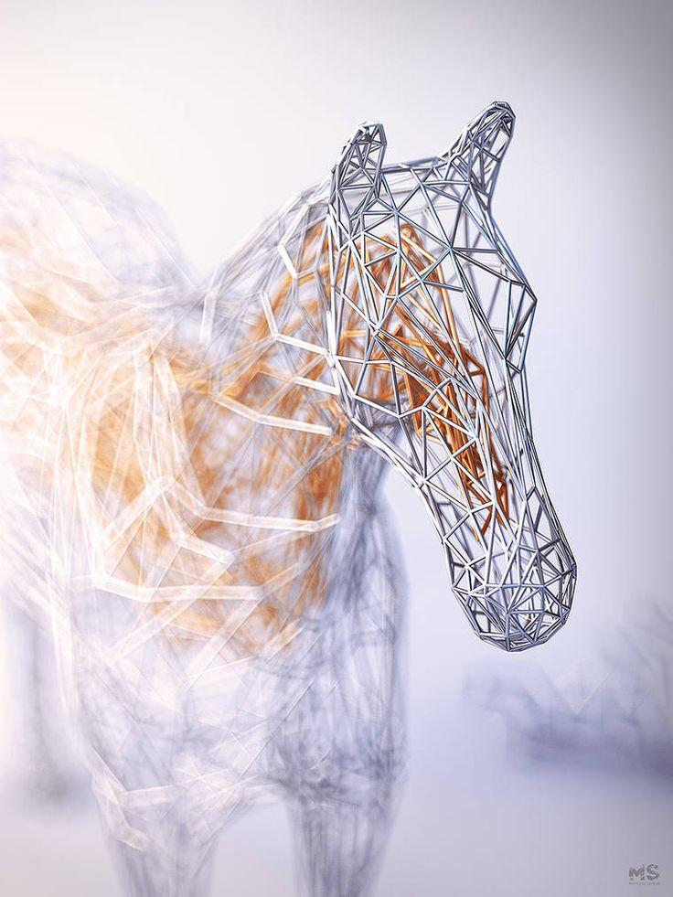 The Wires – The stunning geometric animals by Matt Szulik