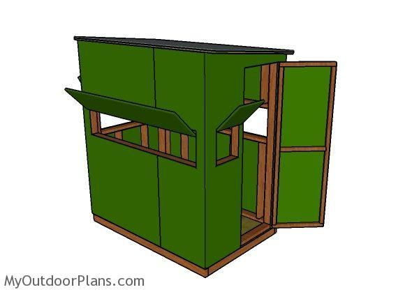 Deer Blind Plans 4x6 | MyOutdoorPlans | Free Woodworking Plans and Projects, DIY Shed, Wooden Playhouse, Pergola, Bbq