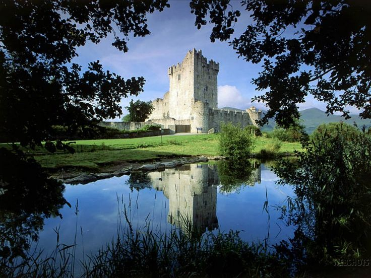 Ross Castle, Lough Leane, Killarney National Park, County Kerry, Ireland