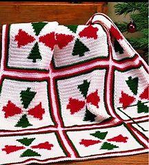 Yuletide Pine Afghan ~ free pattern