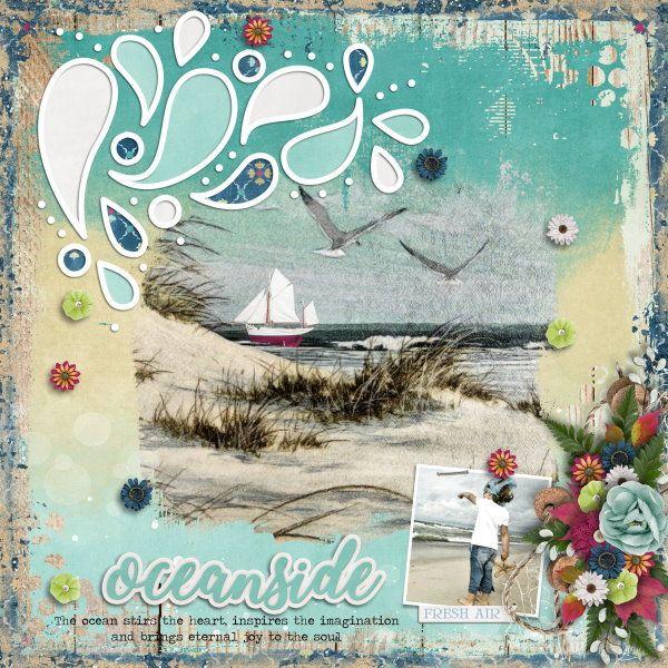 Template Summer Splash #2 by Heartstrings Scrap Art. Kit Oceanside by Aimee Harrison Designs. Photos from Desktop Nexus.