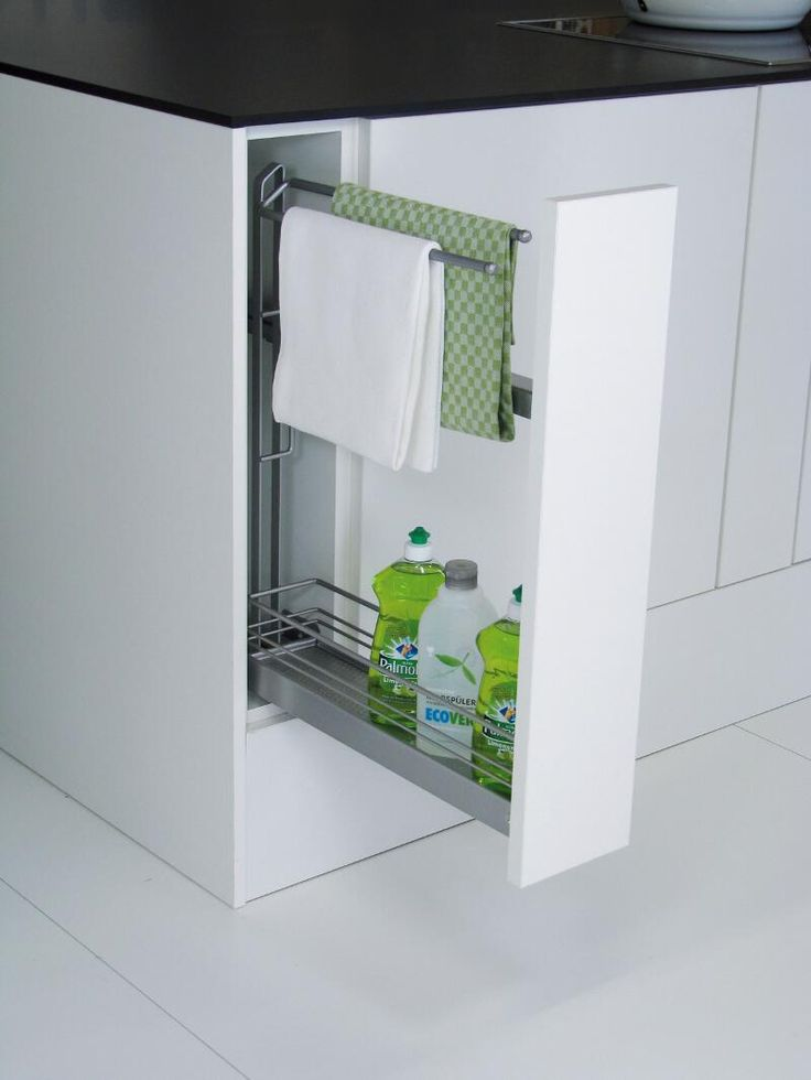 KESSEBOHMER Pull out towel rail - Great for teatowels, oven gloves & washing up bits! #storageideas