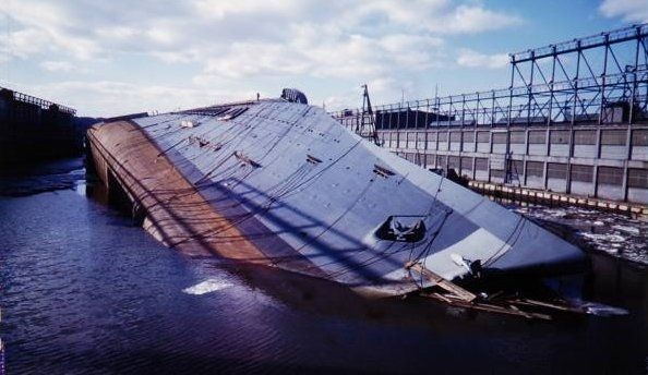 Normandie capsized (LIFE) - SS Normandie - Wikipedia