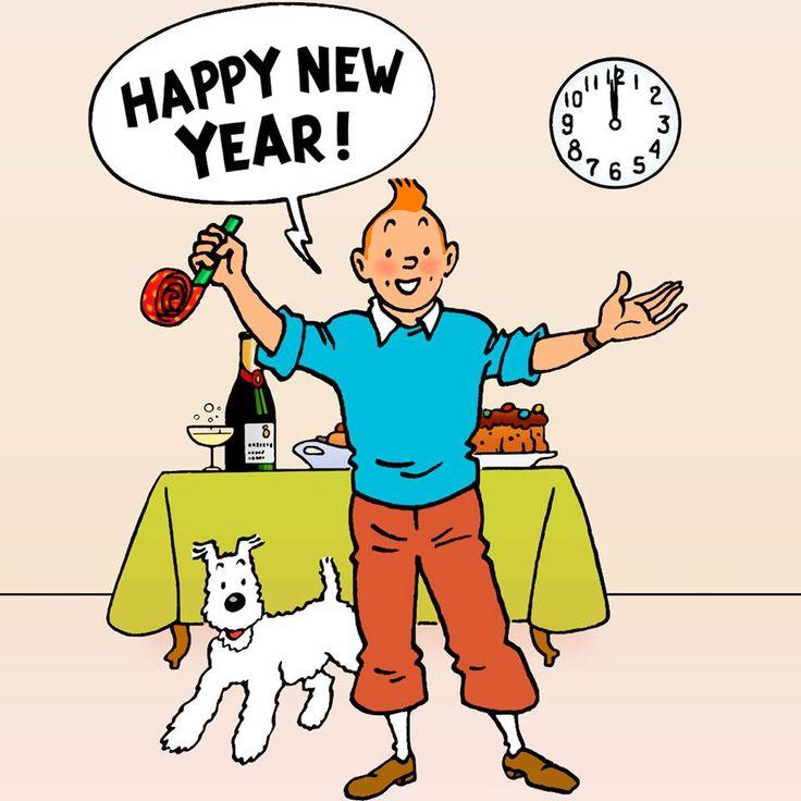 Bonne année 2015 - Tintin