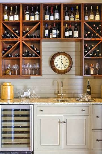 Basement wet bar idea