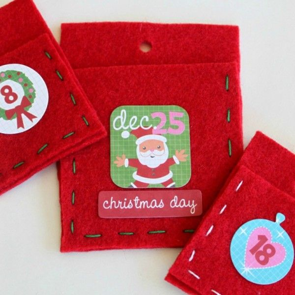 Felt Pocket Christmas Advent Calendar