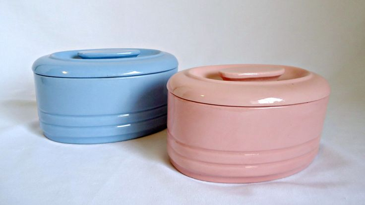 2 Vintage Refrigerator Dish Pink Blue Westinghouse 1950's by TreasureCoveAlly on Etsy