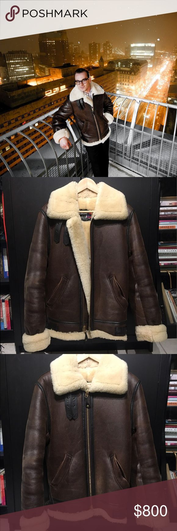 Schott shearling leather bomber jacket Schott leather World War II inspired bomber jacket. SUPER WARM AND COZY. Fits xtra small and small sized with room to wear a sweater. Great quality and lightly worn...leather was conditioned after each wear.  💫WILLING TO NEGOTIATE, SEND ME AN OFFER!💫 Any questions, just ask below! 😀 Schott Jackets & Coats Military & Field