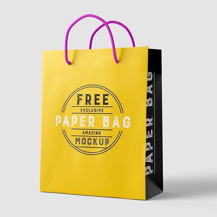 Download Paper Bag Download Free Mockup Bag Mockup Paper Bag Design Paper Bag