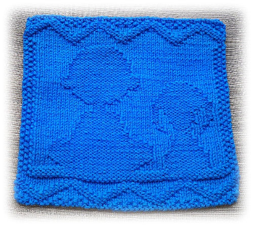 Chuck and Snoopy Dishcloth by Alli Barrett - free pattern