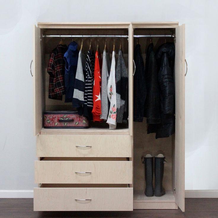 Gothic Cabinet Craft   Flat Iron 2 Piece Wardrobe Closet System, $1,049.00  (http: