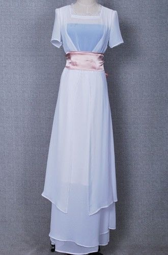 Titanic Rose White Party Dress Chiffon Gown Suit High Quality Halloween Costume #Aspictureshow