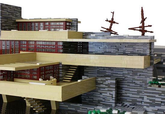 Modern lego house legos pinterest architecture falling waters and luxury - Falling waters lego ...