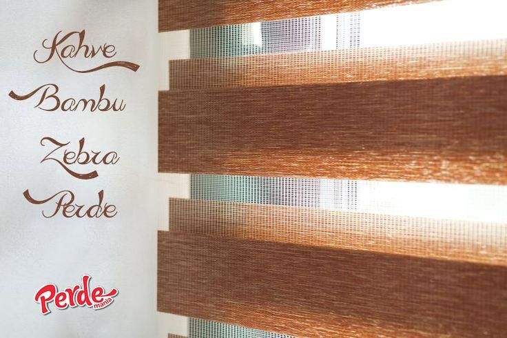 Kahve Bambu Zebra Perde Bambu zebra perdeler ince şeritleri ve bambu görüntüsü ile kullanıldığı ortama şık ve zengin bir hava katar.