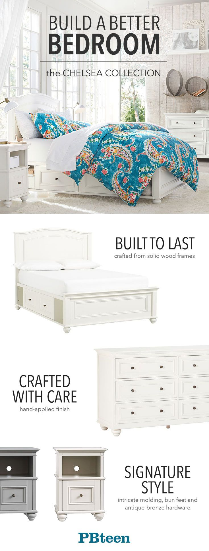 That classic detailing, that extra storage space… this bedroom furniture is made for years of sleeping chic!