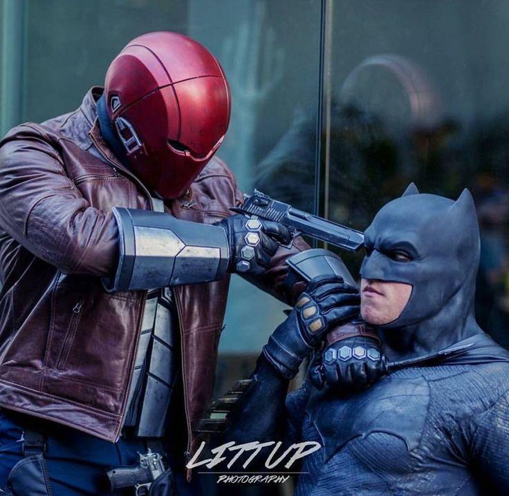 Red Hood and Batman Cosplay