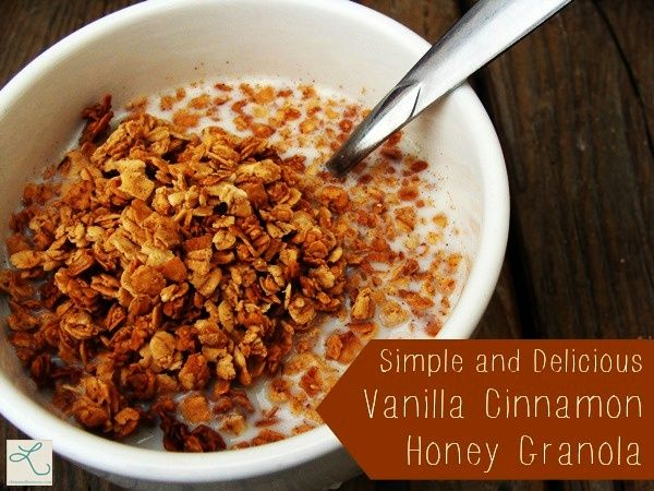 Simple and Delicious Vanilla Cinnamon Honey Granola by Let This Mind Be in You