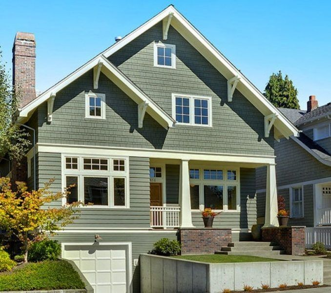 Sage Green Exterior House Colors Colors For Homes Colors For Homes