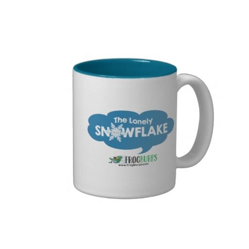 The Lonely Snowflake mug ~ Read more about The Lonely Snowflake http://www.frogburps.com/snowflake_sq #childrensbooks #frogburps #thelonelysnowflake #mug #childrensillustration
