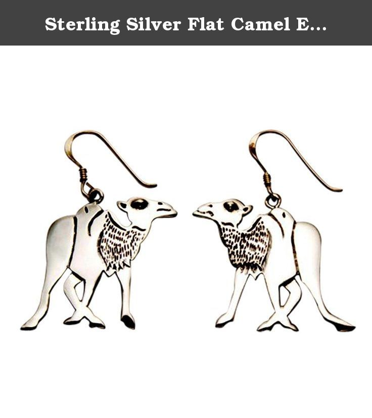 Sterling Silver Flat Camel Earrings. Camels can go for two months without water and can run for hours without stopping. A camel's kidney plays a part in helping the camel go for a long time without water: it concentrates the urine-some camel urine could be as thick as honey. Camels can avoid perspiring by raising their body temperatures a few degrees, and thus preserving their fluid.