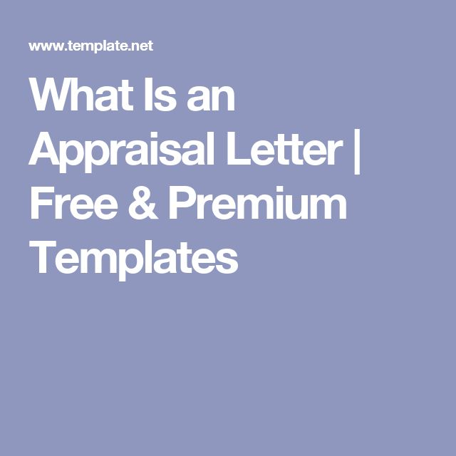 What Is An Appraisal Letter  Free  Premium Templates