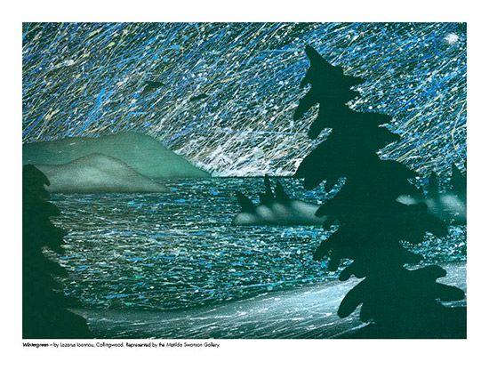2015 Landscape Calendar | The Art Map Wintergreen by Lazarus Ioannou - December