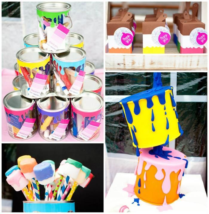Painting Party with Lots of Really Fun Ideas via Kara's Party Ideas | KarasPartyIdeas.com