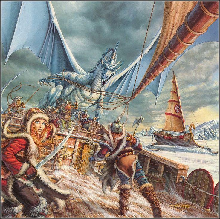 fantasy_dragons_drawings_larry_elmore_dragonlance_laurana_kanan_desktop_900x897_hd-wallpaper-1186604.jpg (900×897)