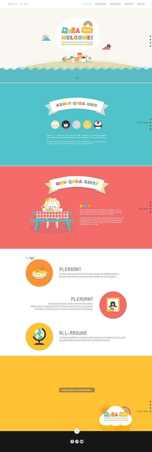 How to design a website for kids - Quba Is A Collection Of Characters That Introduces Preschool Children And Their Parents To Table Manners And Traditions In Various Countries